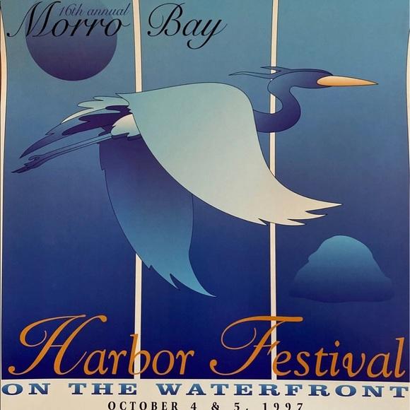 1997 Morro Bay Harbor Festival Advertising Poster
